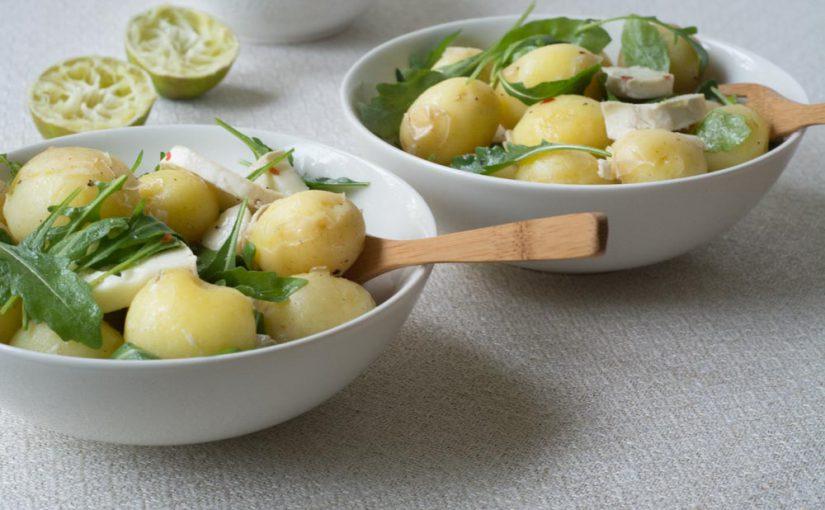 Peruna-vuohenjuustosalaatti
